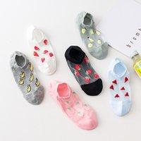 2021 Socken Cash Frucht Kristall Glas Baumwolle Boden Atmungsaktiv Unsichtbare Bequeme Frauen SOS