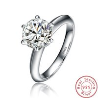 99% Off Solitaire 1ct Lab Diamond Ring 100% Real 925 Sterling Silver Engagement Wedding Band Rings For Women Men Party Jewelry 210506