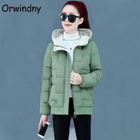 Orwindny Winter Jacket Women Loose M-3XL Parkas Hooded Thicken Warm Wadded Coat Solid Fashion Short Clothing Women's Down &