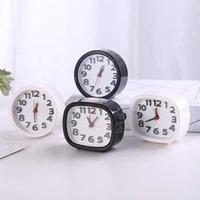 Desk & Table Clocks Creative Candy Color Square round Small Alarm Clock, Bedroom Bedside Office Electronic Student Gifts For Children