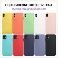 Liquid Silicone Phone Case for Samsung A10s A20S A01 A11 for ip X XS MAX XR 7 8 6 6S Plus 11 Pro Max SE 2020 Cover Full Protective Cases