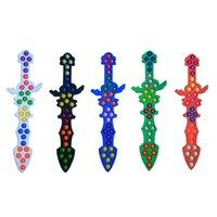 2021 Хэллоуин Hivet Pioneer Sword Нож Игрушка Pushers Poppers Пузыри Палкой Детская Радуга 56см Головоломка Сенсорная Декомпрессия Игрушечная Доска G96JU3E