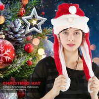 Christmas Decorations 1Pc Electric Hat Swinging Ear Warm Xmas Year Plush Cap Home