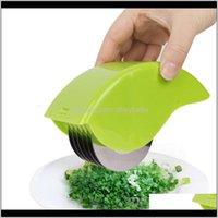 Другие инструменты Кухня, Обеденный бар Главная Сад Drop Доставка 2021 Графический ролик Herb Mincer, ручной резервуар Chive Mint Chinter с 6 нержавеющей