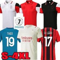 S-4XL 21 22 AC Soccer Jerseys Milan Top Ibrahimovic Giroud 2021 2022 Tonali Mandzukic Kjær Kessie Theo Brahim Männer Polo Sets Fußballset Hemd Uniformen