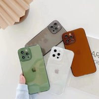 Transparent silicone phone cases for iphone 13 12 11 pro max XR XS X 7 8 Plus Anti-knock TPU Protective Shockproof soft Clear cellphone Cover wholesale