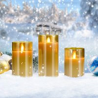 Candles Tan glass electronic smokeless restaurant light dinner decoration candle