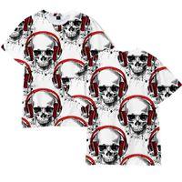Women's T-Shirt Skeleton 3D Pattern Digital Printing Casual Stree Fashion O Neck Summer Cool Big Size