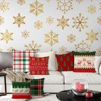 Cushion Decorative Pillow 2021 Christmas Decoration Linen Cushion Cover Case For Living Room Sofa Home Decor Pillowcase