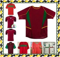 Retro portoghese 98 02 maglie da calcio figo ronaldo nani f.coentrao 04 10 Carvalho J.Moutinho Camicie da calcio Deco Pepe Quaresma Rui Costa 10
