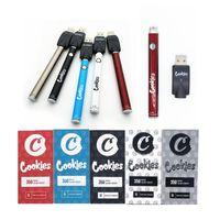 Cookies Battery Slim Twist 350mAh 900mAh Bottom Spinner 3.3-4.8V Preheat VV 510 Thread Cartridge Vape Batteries Pen For EGO Tanks Atomizer