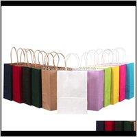 Wrap Kraft Paper Cadeau avec manche Shopping Sacs d'emballage de Noël 3 Tailles YJJ3T 3APHW