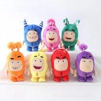 7pcs / lot cartoon udda bods anime plysch leksak skatt av soldater monster mjuka fyllda säkringar bubblor zeke jeff docka för barn gåva