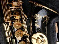 Высокое качество Super Action 80 Series II Черное тело Золотой Ключ Alto Saxophone Полный цветок EB Tune 802 Модель E Flat Sax с Reeds Case Professional