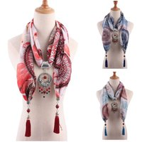 Scarves 2021 Jewelry Statement Necklace Pendant Scarf Ladies Bohemian Square Accessories Headscarf Store