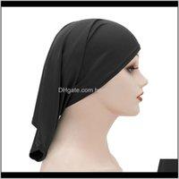 Gorro headwears athletic ao ar livre accs esportes outdoors outdoor entrega 2021 tampas muçulmanas mulheres chapéus elásticos bonnet turbante cancro islâmico árabe árabe l