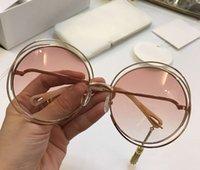 نظارات شمسية كارلينا الإطار الوردي السيدات أزياء الذهب سلك شفافة gafa دي سول سونينبريل نظارات CE114S جولة Wth box xeawr