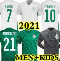 2021 Argelia Mahrez Soccer Jersey Fans Versión Jugador Maillot Algerie 20 21 Atal Feghouli Slimani Brahimi Home Away Bennacer Football Shirt Hombres niños