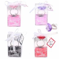 Keychain 1pc Diamond Crystal Wedding Favors and Gifts for Engagement Key Ring Christmas Party