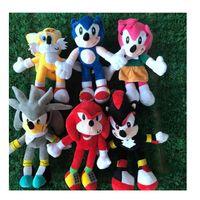 28cm Nnew Chegada Sonic The Hedgehog Caudas Knuckles Echidna pelúcia animais de pelúcia brinquedos presente