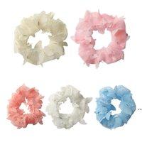 Hair Ring Net yarn butterfly head rope Hairbands Accessories Girls Colorful Scrunchies Headband Elastic Headwear Scrunchy DWB6994
