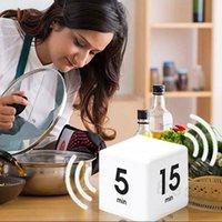 Temps d'automatisation Square Flip Automation 15-20-30-60 minutes d'apprentissage de la minuterie Cuisine Cuisiner Flip Cube Timers LCD Affichage Compte Down TIMERS BH4021 TQQ