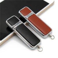 Gerçek Kapasite USB2.0 Yaratıcı Deri 64 GB USB Flash Sürücü 4 GB 8 GB 16G 32 GB Kalem Sürücü Özel Hediye