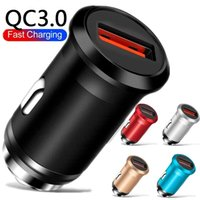 18W QC3.0 Quick Charge Alloy Metal Car Chargers For Iphone 7 8 11 12 13 Htc Samsung Android phone Gps PC
