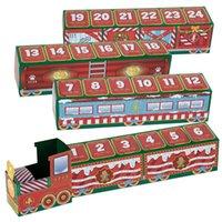 Национальная вечеринка на складе WABLE FIDGET TOYS Рождество Countdown Advent Calendar 24 дня Surprise Train Blue Box Xmas Gifts