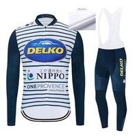 Yarış Setleri Pro 2021 Delko Takım Bisiklet Forması Set Kış Polar Bisiklet Giyim MTB Bisiklet Giymek Önlük Pantolon Ropa Ciclismo Triatlon Suits