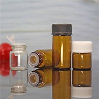 Taiwan Style 1ML A prueba de luz Botella de aceite esencial Transparente 2ML Muestra Submbotellas Botellas de vidrio Tan 3ml Cosmetic