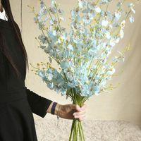 100% Artificial Flower Dancing Lan Heart Orchid Fake Flowers Wedding INS Style Flores Artificiales Petalas Artificiais FDH Decorative & Wrea
