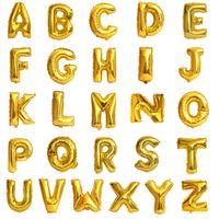 Фольга письма воздушные шары золотые серебряные буквы алфавита A-Z номер 0-9 16 дюймов DIY алюминиевый баллон для счастливых свадебных поставок день рождения