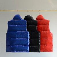 Autunno inverno uomo gilet da uomo lucido color solido vestiti in piedi collare bianco anatra bianco giù coppia giacca casual rossa nera blu m-xxxl