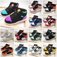 2021 crianças sapatos de moda sapatilhas jumpman 1 alto basquete branco preto preto vermelho azul venda tamanho 26-35