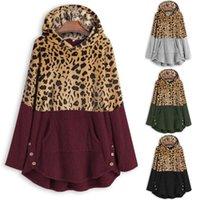 Women's Jackets Plus Size Womens Leopard Print Coat Female Winter Fleece Long Sleeves Casual Jacket Fashion Patchwork