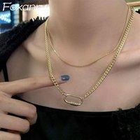 Foxanry Minimalist 925 стерлингового серебра стерлингового серебра для женщин Пары Творческие старинные двойные слоистые элегантные украшения невесты
