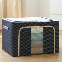 Quilt Handbag Bag Large Container Foldable Sweater Storage Closet Clothes Blanket Household Box Oxford Goods Bbhco