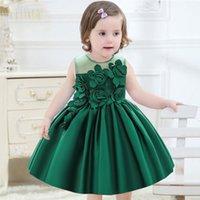 Girl's Dresses Rose Flower Toddler Baby Girl Infant Lace Tutu Dress Wedding Kids Party Vestidos Princess 1 Years Birthday