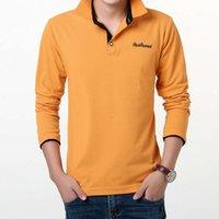 Brands Polo Рубашка Вышитые Работыми Повседневная Полос Длинные Рукавы Поло Дизайнерские Рубашки Для Мужчин Slim Fit Размер 3XL Падение Доставка