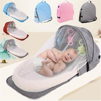 Diaper Bags Backpack Mom Portable Baby Crib Born Bed Folding Travel Beds Nest Infant Bassinet Cot Mosquito Net Cribs Mommy Bag Big