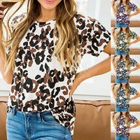 Women's T-Shirt 2021 Camouflage Printed Tops Loose Summer Short Sleeve Tshirt Selling Fasion