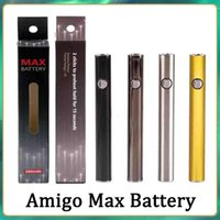 Original Amigo Max Preheat Battery 380mAh Variable Voltage VV Bottom Charge 510 For Liberty V9 Thick Oil Cartridge Tank Vs Airis