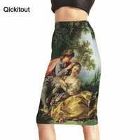 Qickitout Products Mujer Sexy Bosque Árbol Lindos niños 3D Faldas de impresión de cintura alta Paquete de cadera falda de cadera