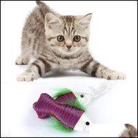 Cat Home & Gardencat Toys Pet Nylon Line Small Fish Rings Funny Stick Toy Interactive Supplies Teasing Drop Delivery 2021 Eq8Zl