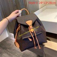 2021 럭셔리 여성 지갑 배낭 핸드백 디자이너 학교 가방 문자열 뒤 팩 클래식 학생 양동이 가방 인쇄 편지 태그와 함께 인쇄 된 양각 된 꽃 L21050601