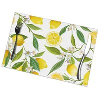Mats & Pads Set Of 6 Fruits Floral Pattern Placemats For Dining Table Place Mat In Kitchen Accessories Cup Wine