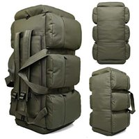 Outdoor Bags 2021 High Quality 90L Large Capacity Military Travel Oxford canvas Backpack Camouflage Duffel Bag Waterproof