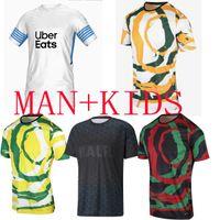 21 22 Marselha Jerseys de futebol Olympique de casa Branco Especial Milik Om África 2020 2021 Payet Thaufin Benedetto Football Jersey Men Kids Balr Quarta camiseta