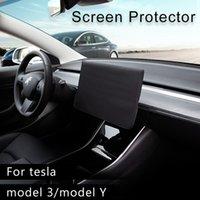 حامي الشاشة ظلة ل Tesla نموذج 3 2021 ملحقات النيابة الأكمام زلة على غطاء مقاوم للماء النسيج الملاحة نموذج 3